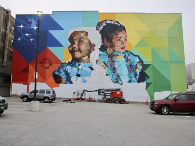 Mauricio Ramirez wraps up large-scale mural on Community Advocates, Inc. building in heart of downtown Milwaukee's Westown neighborhood