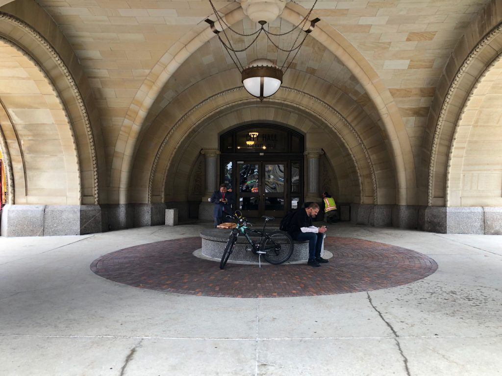 South entrance to City Hall. Photo by Jeramey Jannene.