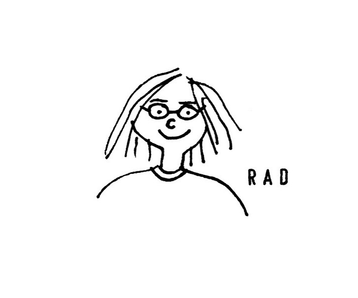A self-portrait illustration of Rachal Duggan.