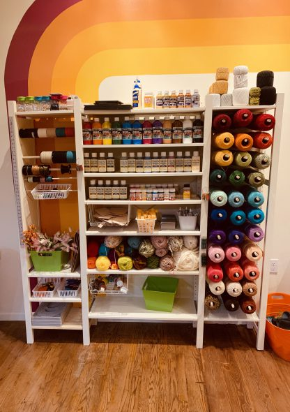 Rec Room Craft Co. craft wall. Photo courtesy of the Rec Room Craft Co.