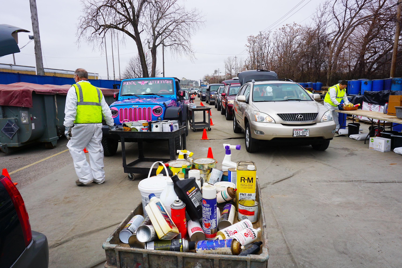 Household Hazardous Waste Collection. Photo courtesy of MMSD.