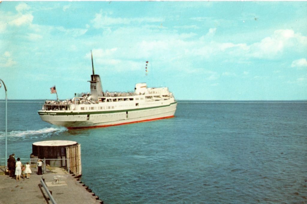 The Clipper departs Milwaukee's Municipal Pier for another 65-mile journey to Muskegon, Michigan. Carl Swanson collection