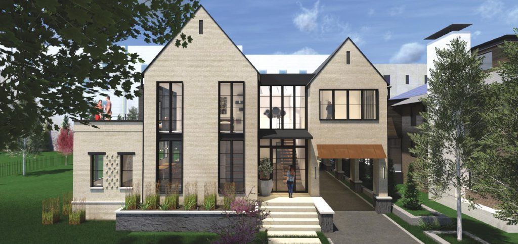 Shuk House rendering. Rendering by Korb + Associates Architects.