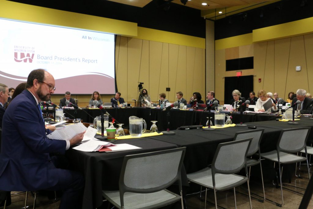 The University of Wisconsin Board of Regents met Thursday, Oct. 10 and Friday, Oct. 11 at UW-Superior's Yellowjacket Union student center. Photo by Rich Kremer/WPR.
