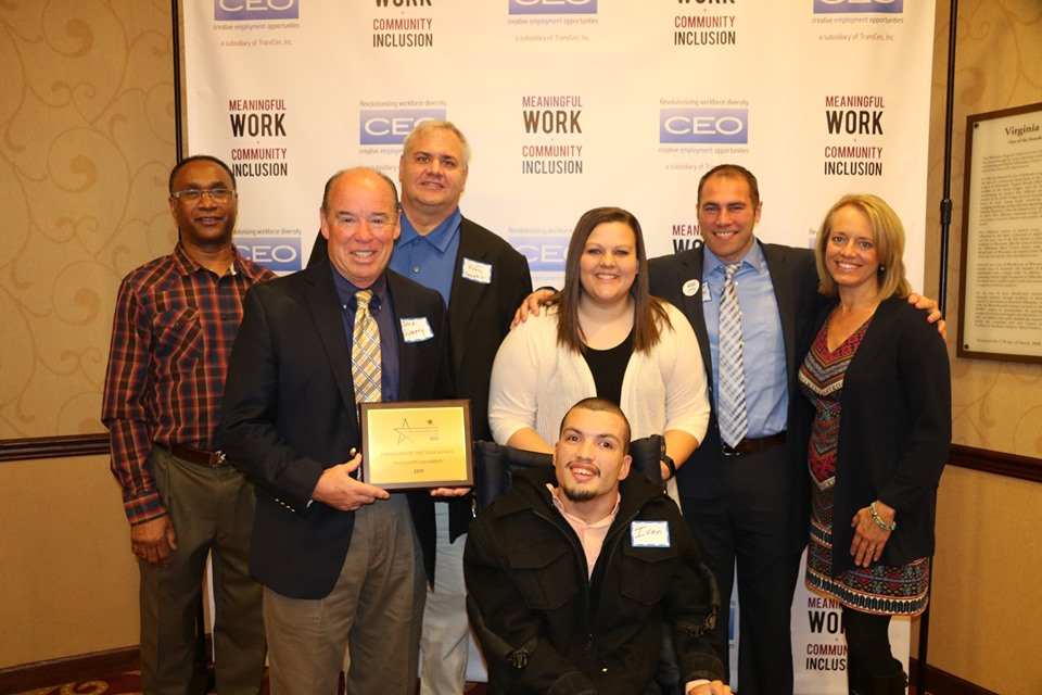 Marquette University receives Employer of the Year Award for inclusive hiring. Photo courtesy of Marquette University.