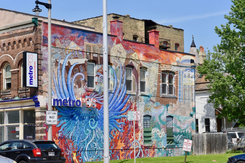 """Phoenix Rising"" is located on North 27th Street in the Avenues West neighborhood and was painted by Kate Madigan. Photo by Sue Vliet."