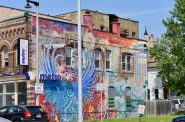 """""""Phoenix Rising"""" is located on North 27th Street in the Avenues West neighborhood and was painted by Kate Madigan. Photo by Sue Vliet."""