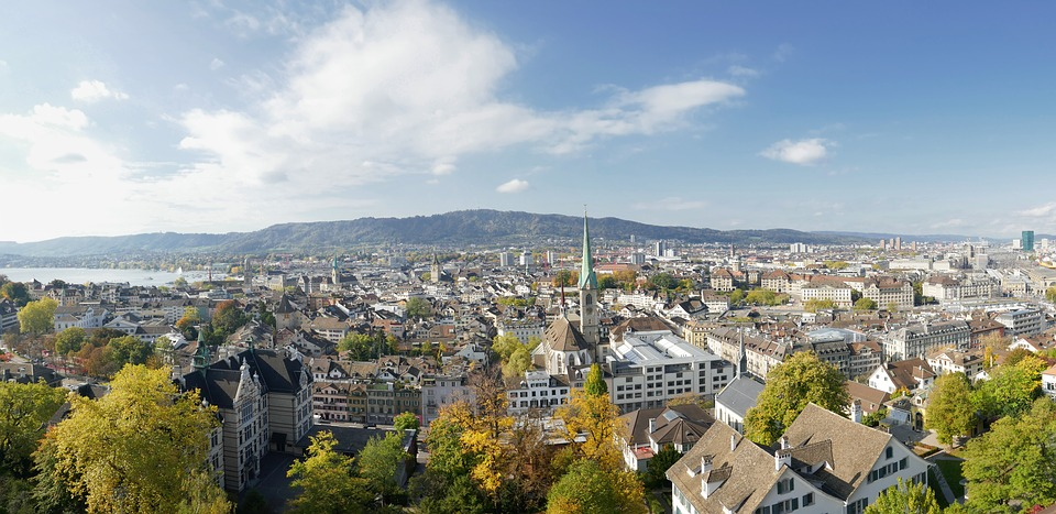 Zurich, Switzerland. Pixabay License. Free for commercial use. No attribution required