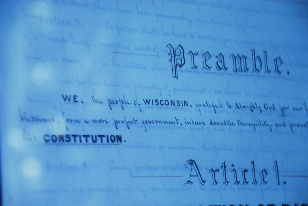 The Wisconsin Constitution. Basharat Alam Shah (CC BY 2.0) https://creativecommons.org/licenses/by/2.0/