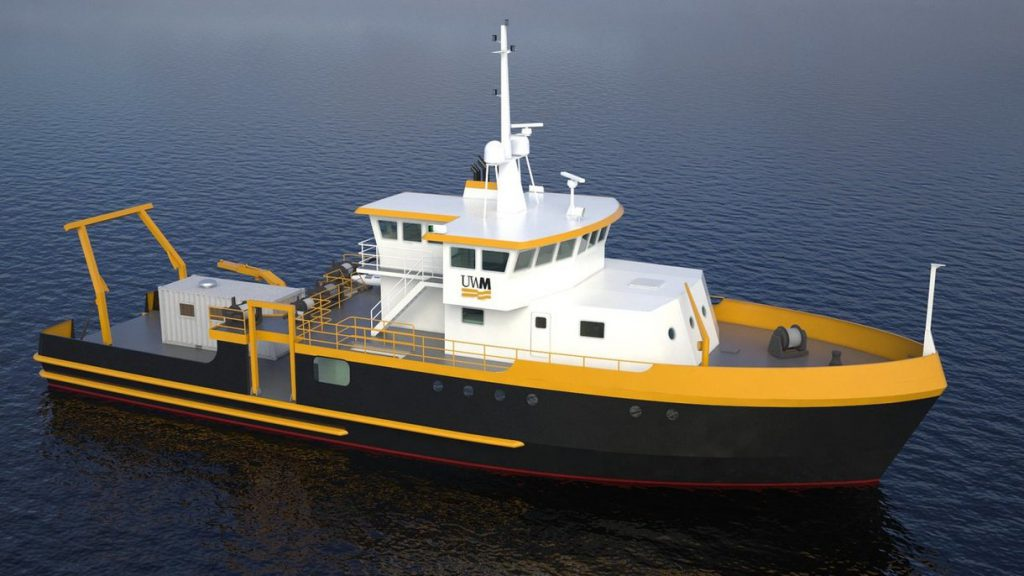Research Vessel Maggi Sue. Photo courtesy of UWM.