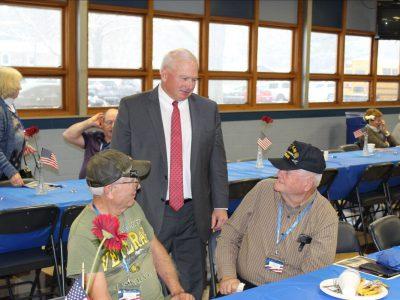Senator Fitzgerald Participates in Lakeside Lutheran's Program Honoring Wisconsin Veterans