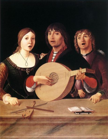 Concert. Painting by Lorenzo Costa. Image ins in the Public Domain.