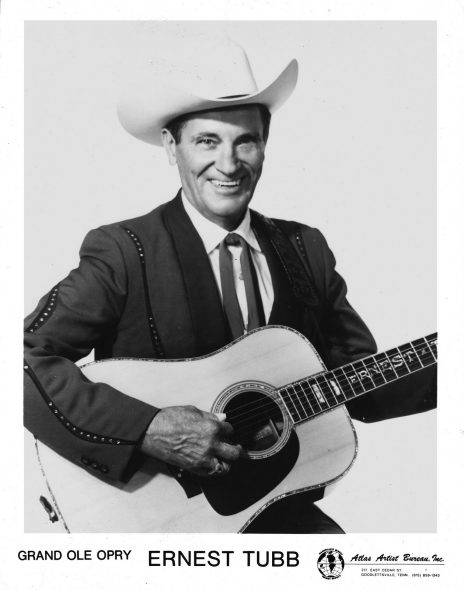 Ernest Tubb. Photo is in the Public Domain.