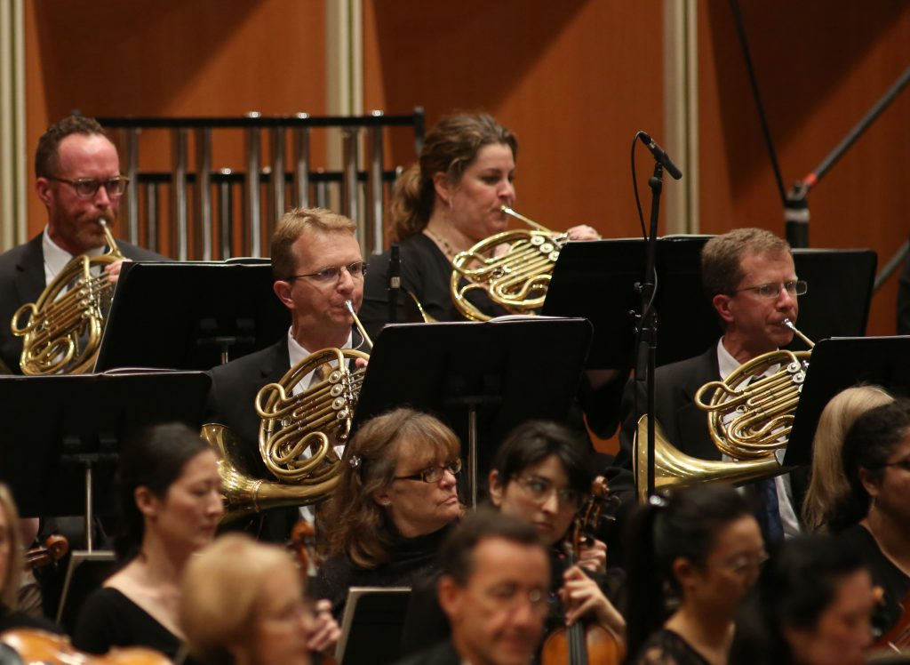 French Horn Section. Photo courtesy of the Milwaukee Symphony Orchestra.