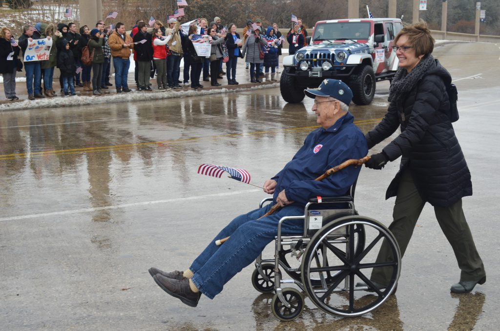 Grand Marshall and D-Day Veteran William Pekrul. Photo by Jack Fennimore.