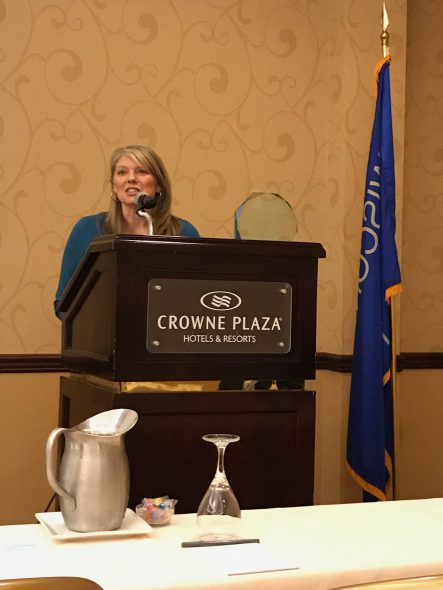 Deputy Secretary Anne Sayers, Department of Tourism, speaks about Wisconsin scenery. Photo courtesy of Charles Mitchell.