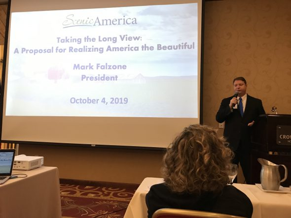 Scenic America President Mark Falzone advocates for highway beautification. Photo courtesy of Charlie Mitchell.