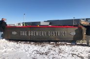 Gateway Sculpture at The Brewery. Photo by Jeramey Jannene.