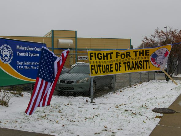 """Fight for the Future of Transit!"" Photo by Graham Kilmer."