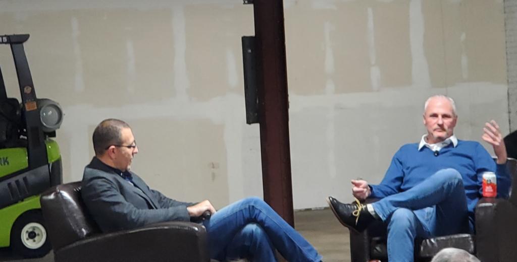 Roman Geyzer and Glenn Reid. Photo by Dave Fidlin.