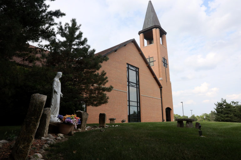 The Rev. Charles Hanel was placed on leave as the pastor at Queen of Apostles Church in Pewaukee, Wis., in 2018 after a 13-year-old girl accused Hanel of groping her in a confessional in 2017. He is set to go to trial in March. Photo by Erica Jones / Wisconsin Watch.