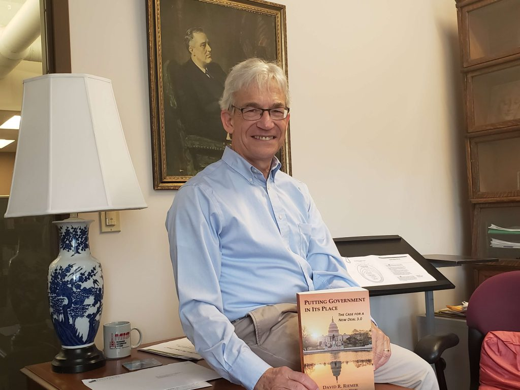 David Riemer, a former aide and longtime architect of policies aimed at alleviating poverty, has published a new book on how to update the New Deal. Photo by Erik Gunn/Wisconsin Examiner.