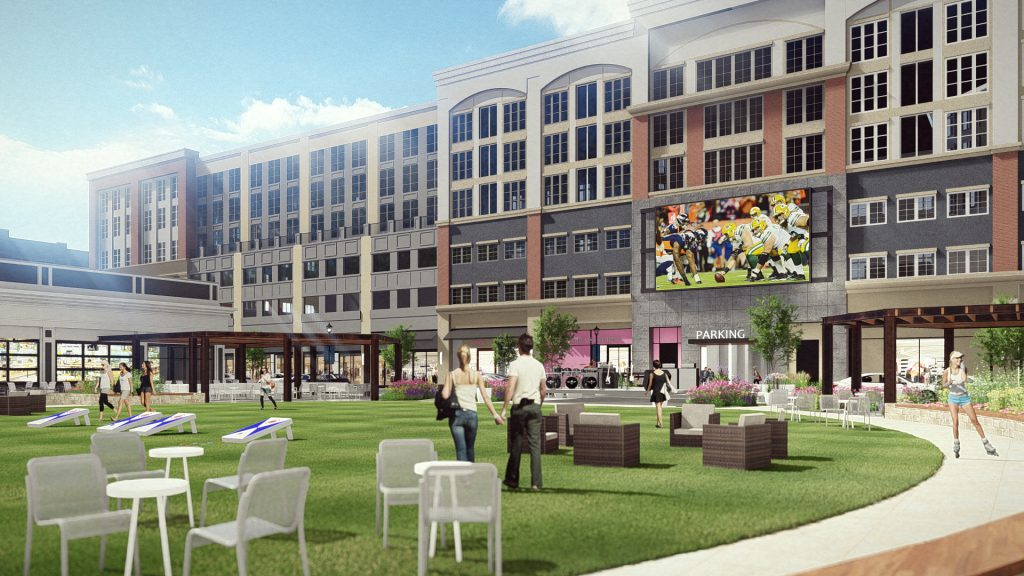 Bayshore Town Center redevelopment rendering. Photo courtesy of Bayshore .