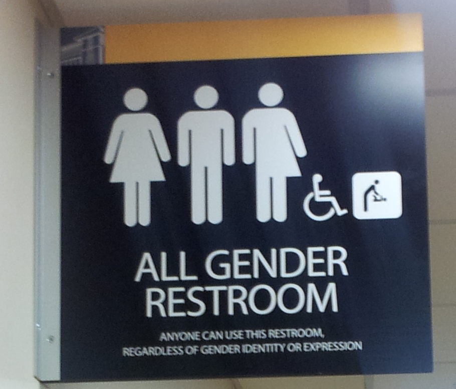 All gender restroom. Photo is in the Public Domain.