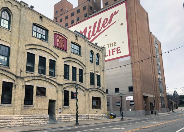 The Miller brewery in Milwaukee. Photo by Corrinne Hess/WPR.