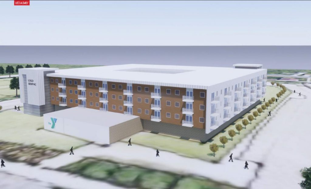 Fletcher Elementary School redevelopment plan. Rendering by Leo A Daley.