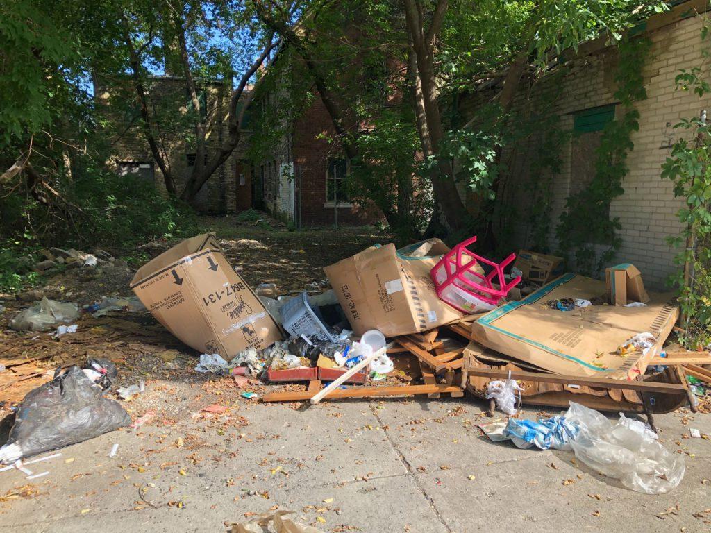 Illegal dumping near N. 25th St. Photo by Jeramey Jannene.
