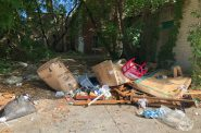 Illegal dumping near N. 25th St. Photo by Jeramey Jannene.