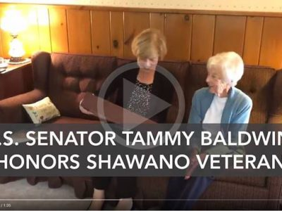 VIDEO RELEASE: U.S. Senator Tammy Baldwin Honors 93 year-old Shawano Veteran