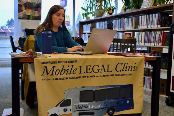 Maddie Bitto says a person's record doesn't just go away, but places like the Mobile Legal Clinic can help. Photo by Ana Martinez-Ortiz/NNS.