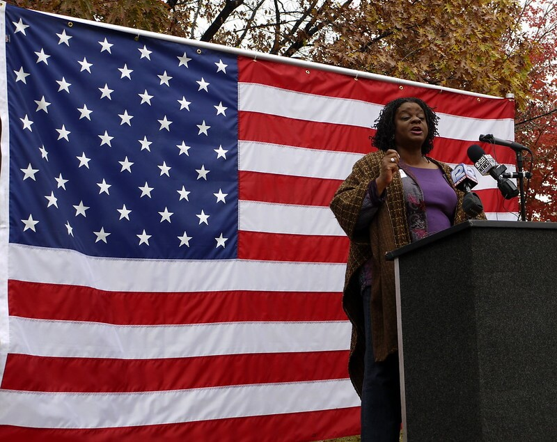 U.S. Rep. Gwen Moore (D-Milwaukee) at an early vote rally. (Creative Commons CC BY 2.0) https://creativecommons.org/licenses/by/2.0/