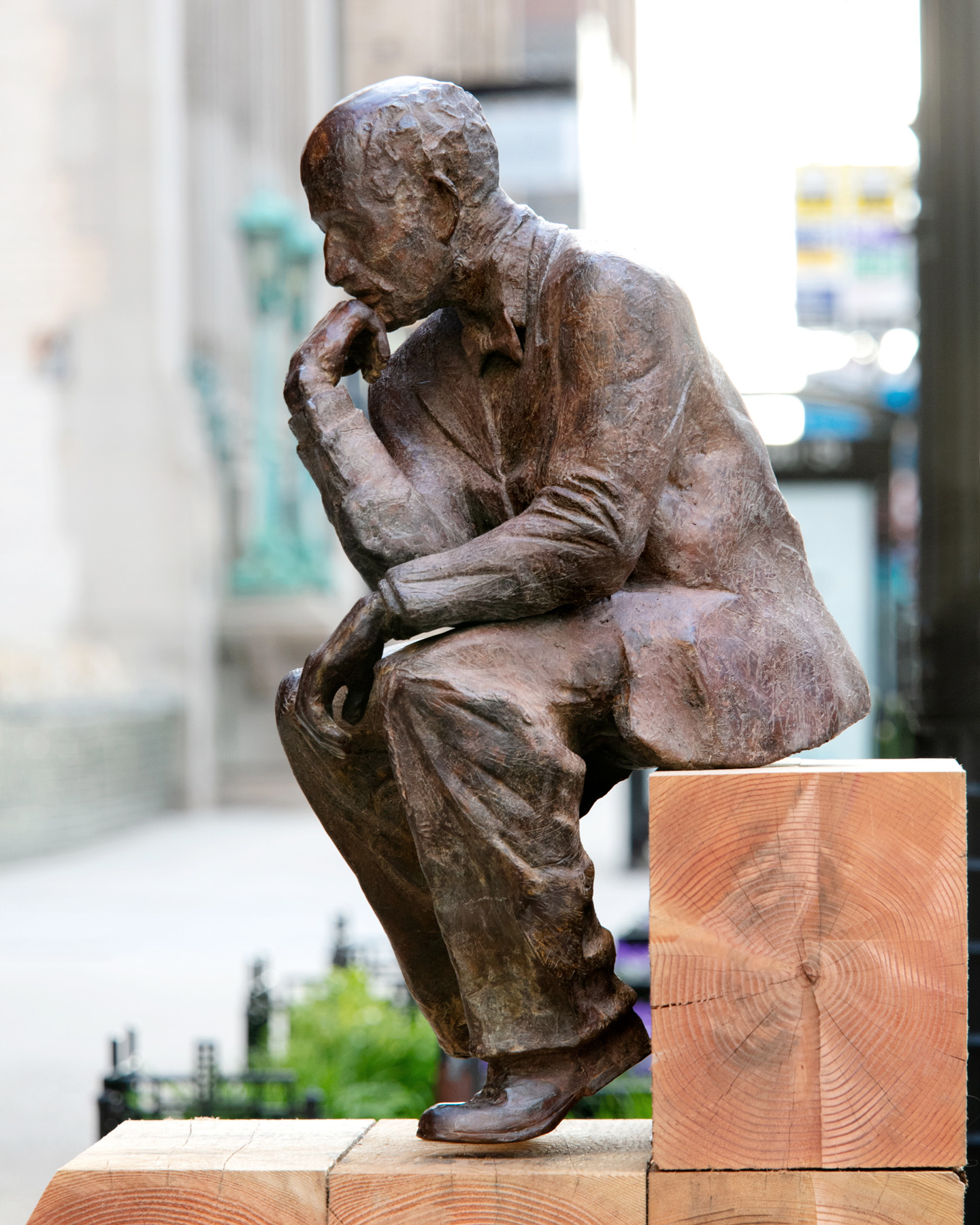 Pensive Sculpture by Radcliffe Bailey Purchased Will be Sited at 770 N. Water Street