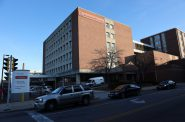 Under Catholic ownership, Ascension SE Wisconsin Hospital–St. Joseph Campus in Milwaukee follows Ethical and Religious Directives, a set of rules written by the U.S. Conference of Catholic Bishops. The hospital serves a predominantly black, low-income neighborhood. Wisconsin is the only state in which a black mother is more likely to give birth in a Catholic hospital than a non-Catholic hospital. Photo by Coburn Dukehart / Wisconsin Watch.