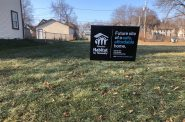 The future site of a Habitat home at 3459 N. 3rd St. Photo by Jeramey Jannene.