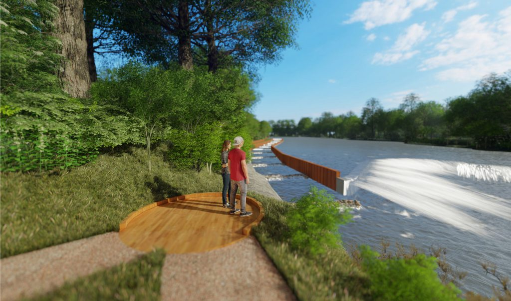 Kletzsch Park river access project rendering