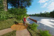 Kletzsch Park river access project rendering