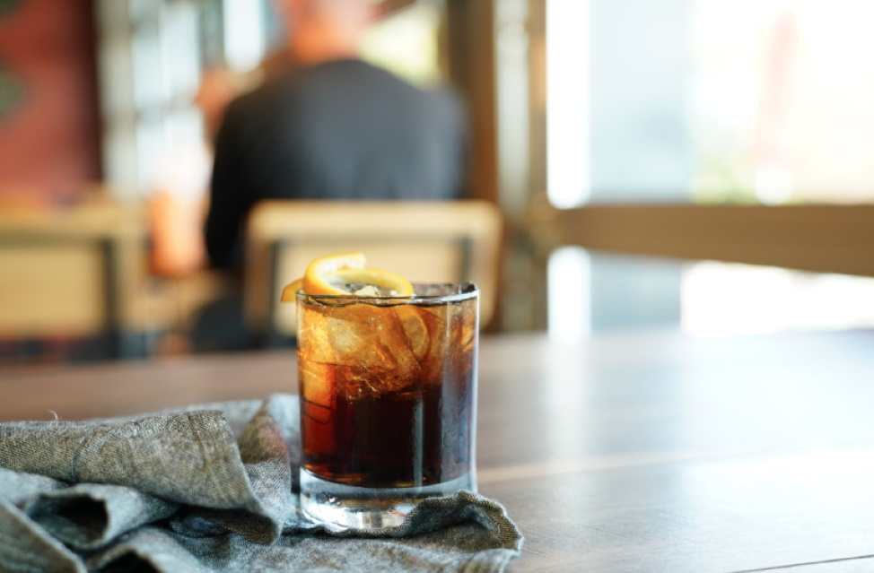 A new take on the Wisconsin Old Fashioned. Rock Bottom Restaurant and Brewery adds a Root Beer Old Fashioned to its menu. Photo courtesy of Rock Bottom Restaurant and Brewery.