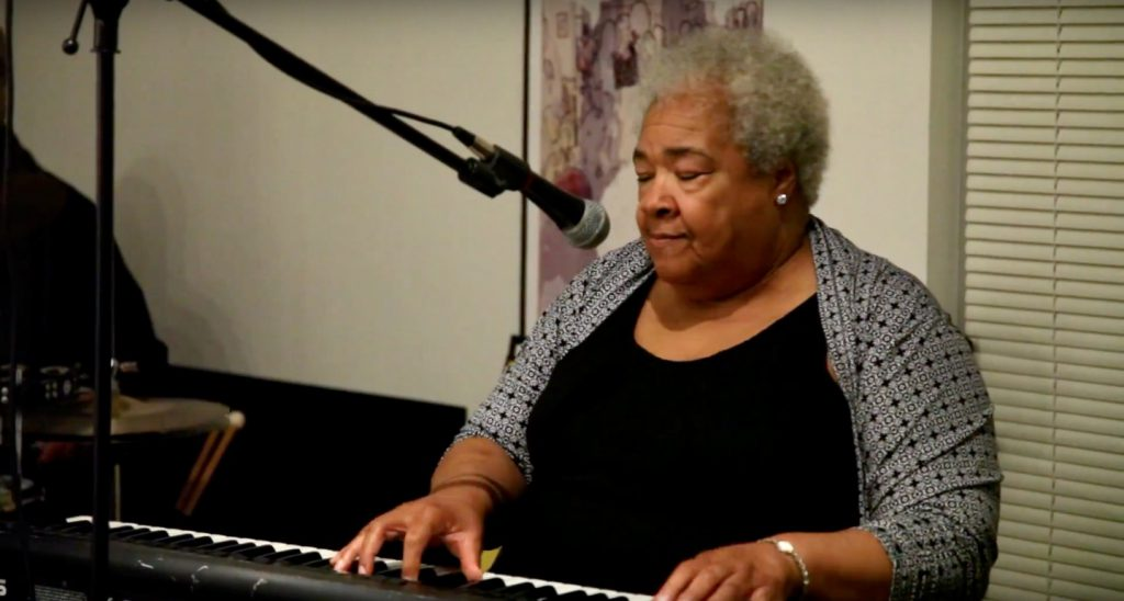 Mary Davis was known for her musical gifts – and for her humanity. She died on Black Friday at age 73. File photo by Mitchell Mittelstedt/NNS.