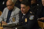 Police chief Alfonso Morales speaks to the Fire and Police Commission. Image from City of Milwaukee/Channel 25.