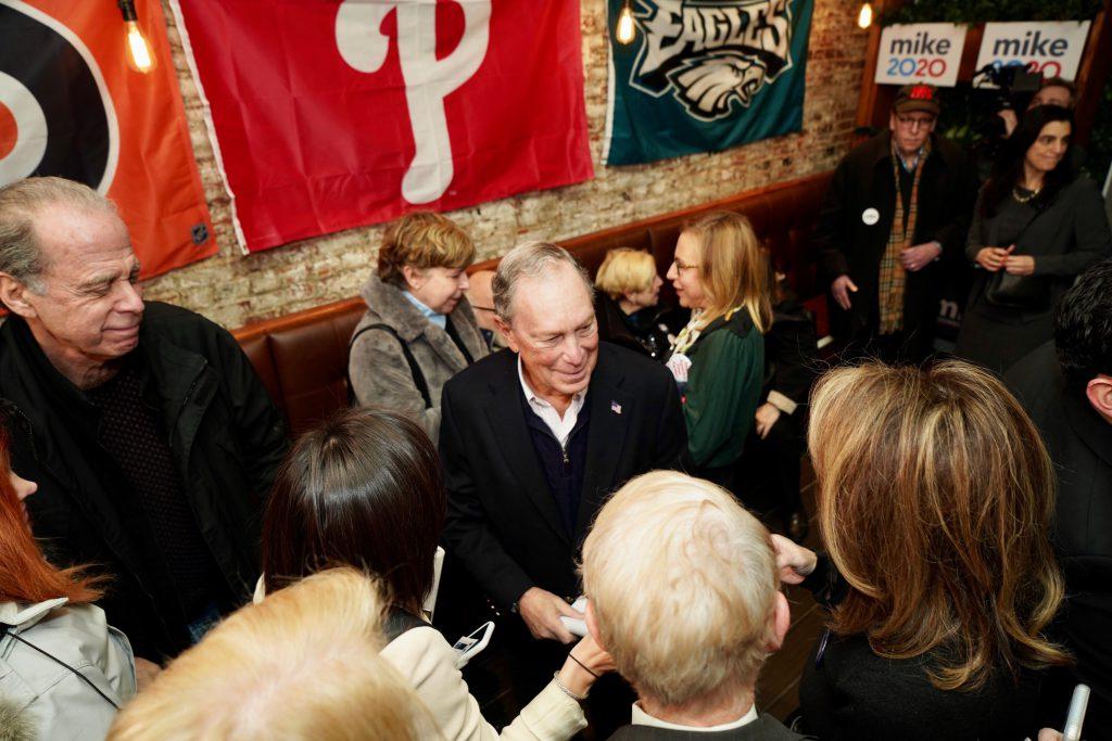 Mike Bloomberg at Philadelphia's Reading Market.