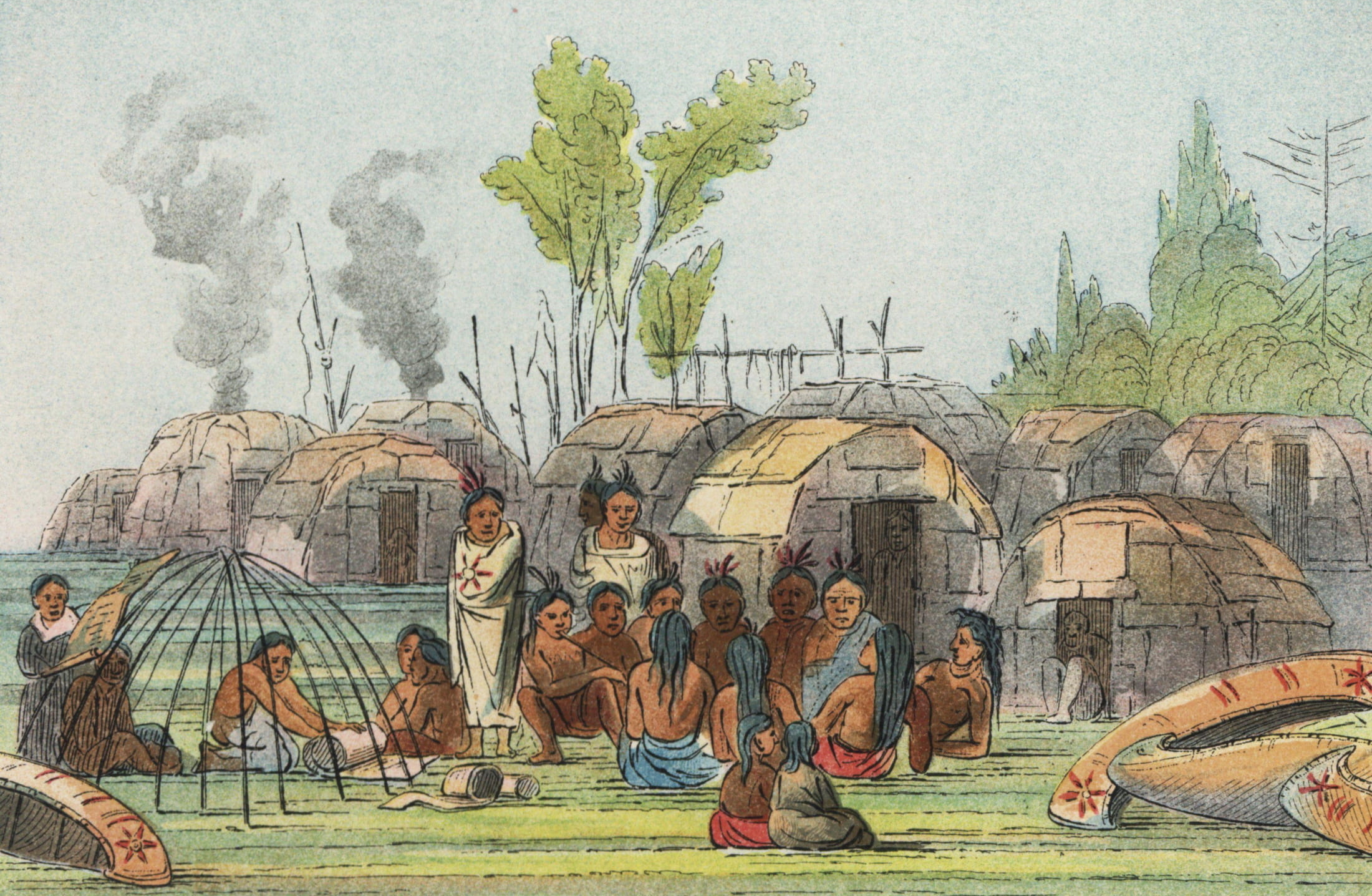 Bark Lodge Village. Image is in the Public Domain.