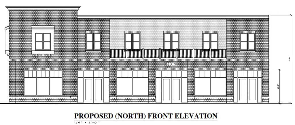 1697 N. Marshall St. Plan. Elevation from Patera.