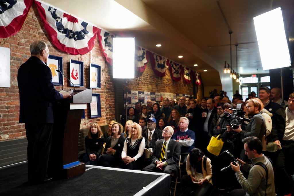 Mike Bloomberg at the Philadelphia Campaign Office for Mike Bloomberg 2020.