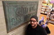 Gimbel Brothers Plaque with Adam Levin at the Milwaukee Public Market. Photo taken December 11th, 2019 by Michael Horne.