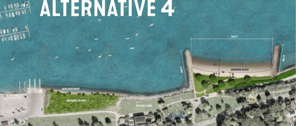 New South Shore Beach design rendering.