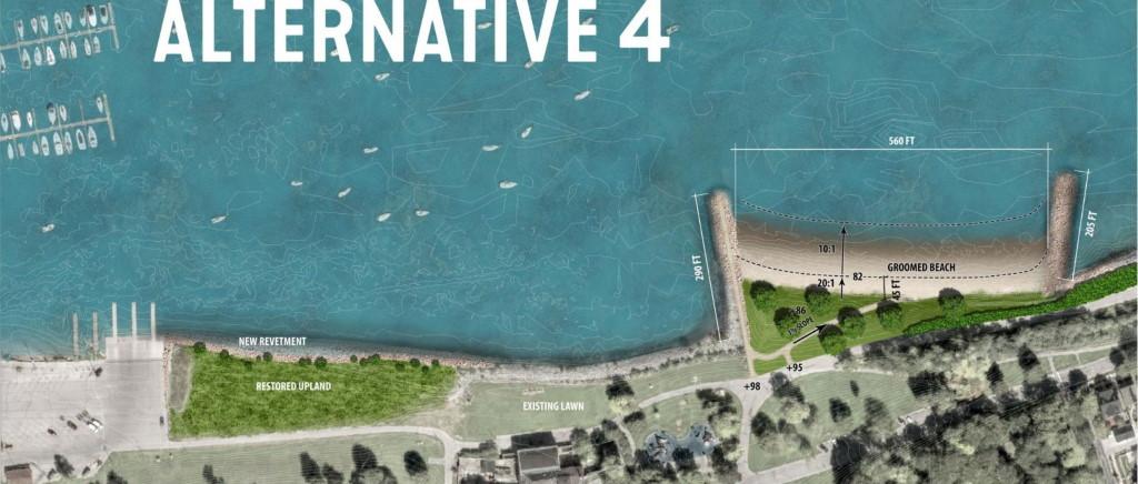 New South Shore Beach design rendering.
